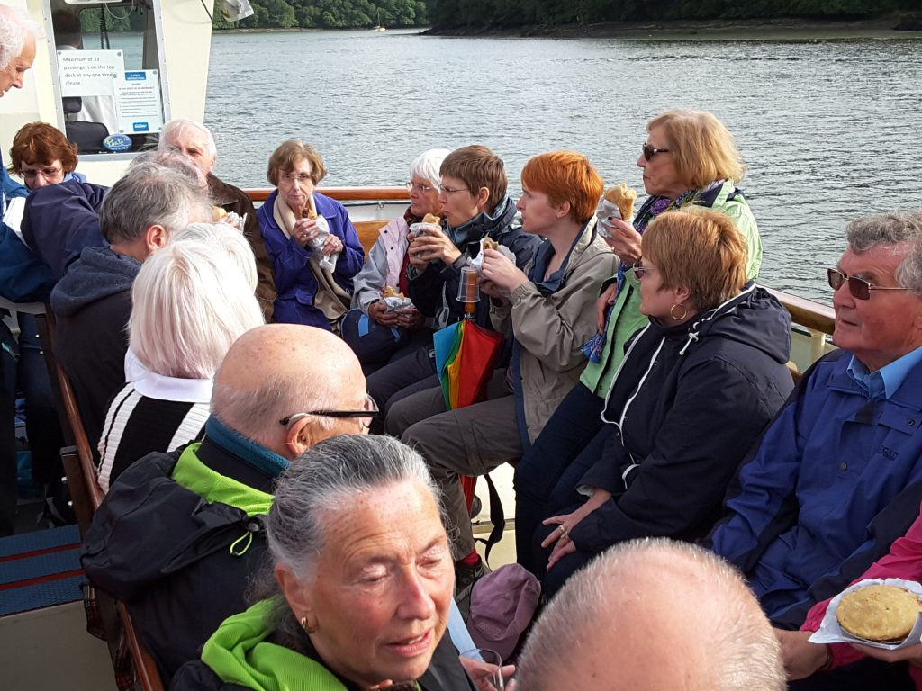 And we're off! The Friends' annual boat trip down the River Fal.
